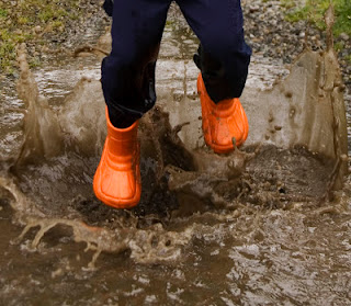 One of life's simple pleasures: Puddle Jumping!
